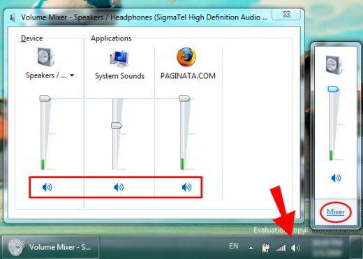 Come ripristinare icona volume desktop