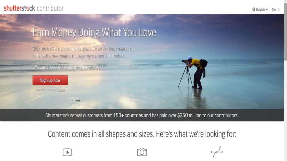 Diventa un collaborate di Shutterstock