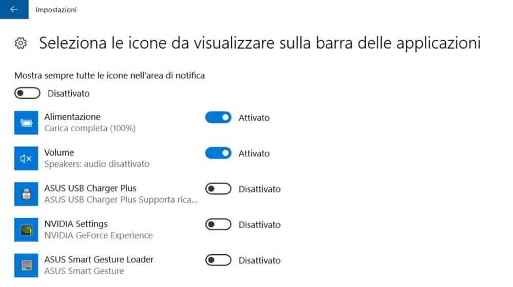 Sparita icona volume desktop