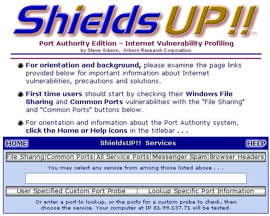 ShieldsUp!
