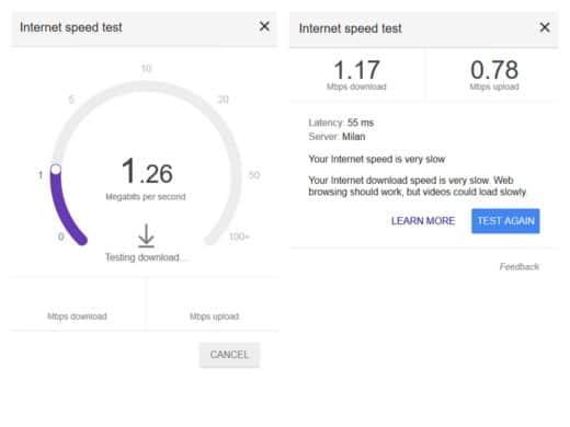 Verificare velocità connessione - Internet Speed Test