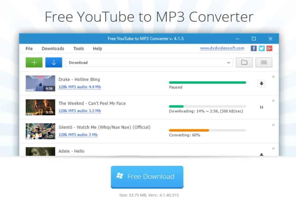 Come convertire video youtube in MP3