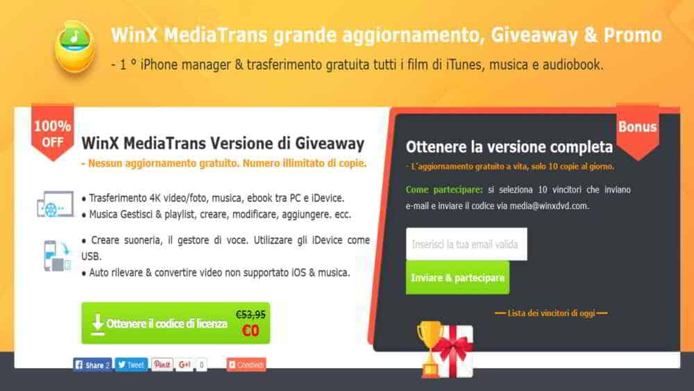 WinX MediaTrans Giveaway