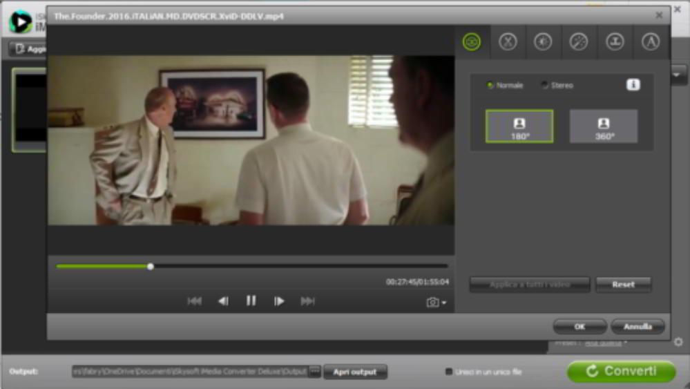 Editor video di iMedia Converter Deluxe