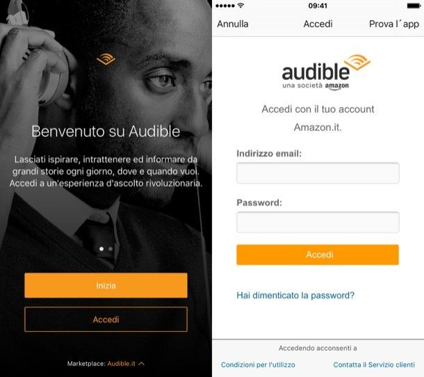 App Audible di Amazon