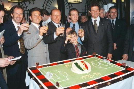 Berlusconi e Fabio Capello festeggiano vittoria Campionato