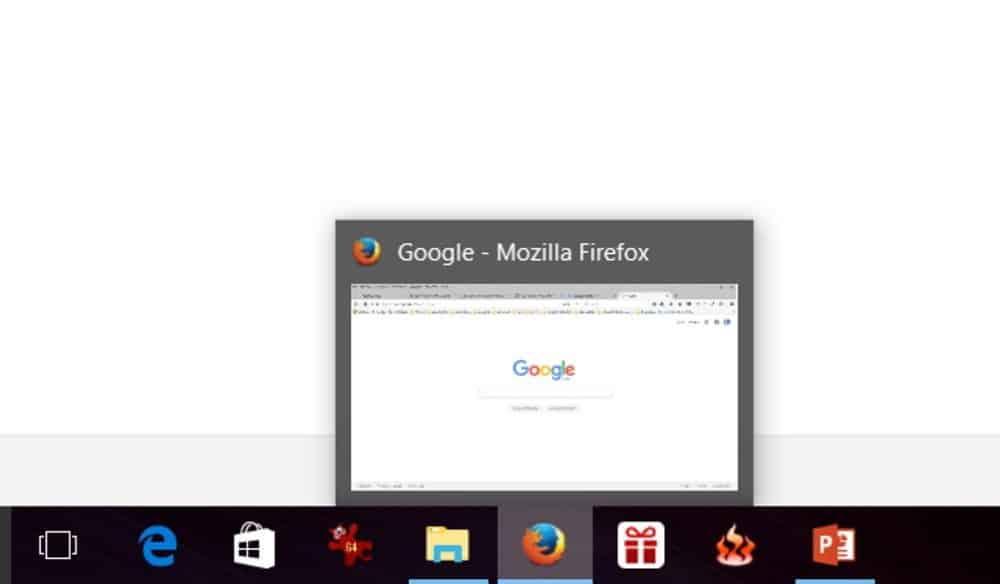 Come rendere grandi le finestre anteprima delle icone nella barra delle applicazioni
