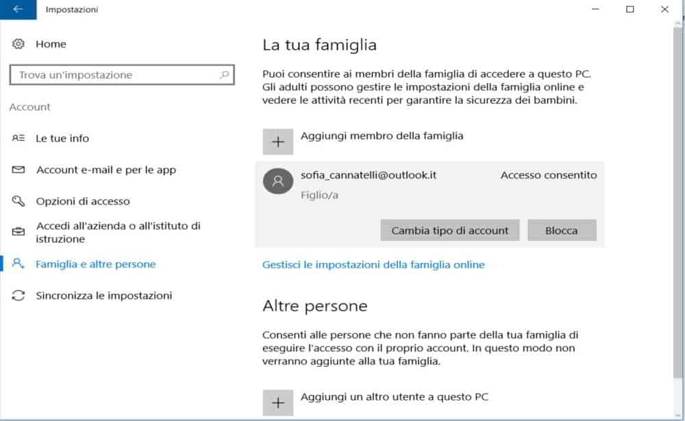 Family Safety Windows 10