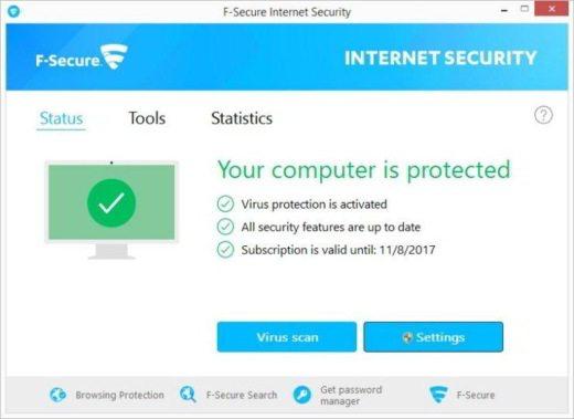 F-SECURE INTERNET SECURITY 2017
