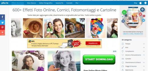 7 pho.to - Migliori Programmi per il fotoritocco online
