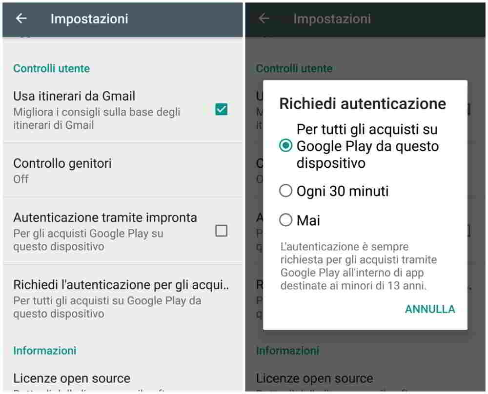 Controllo Genitori Android