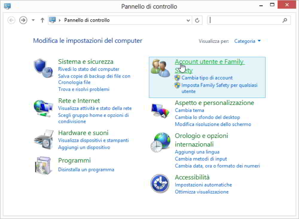 Controllo Genitori su Windows 7/8