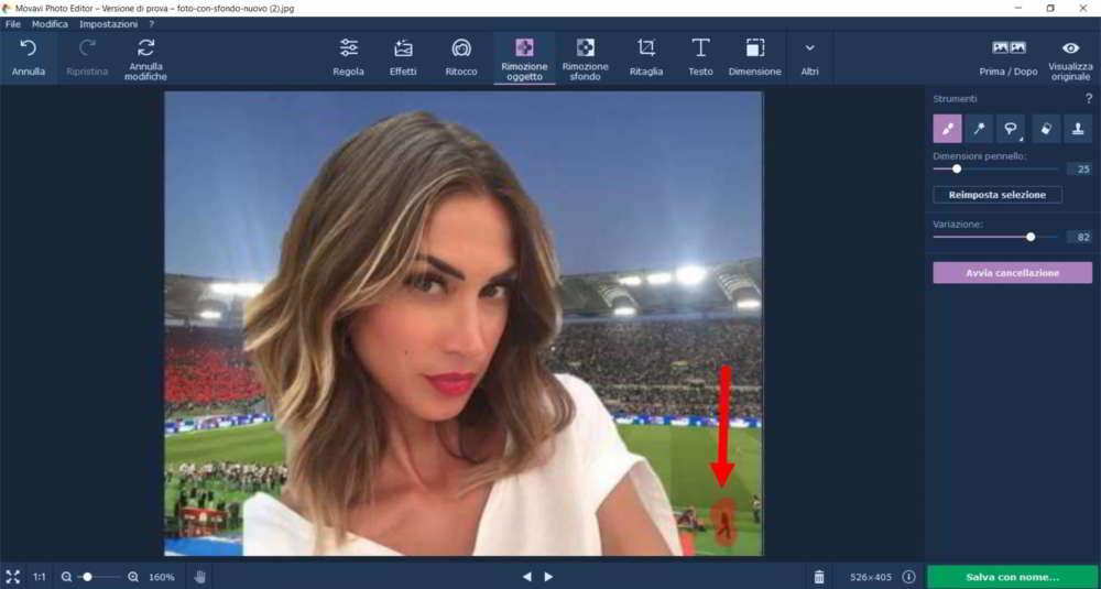 Come eliminare oggetto in una immagine