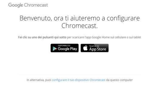 Come configurare Chromecast