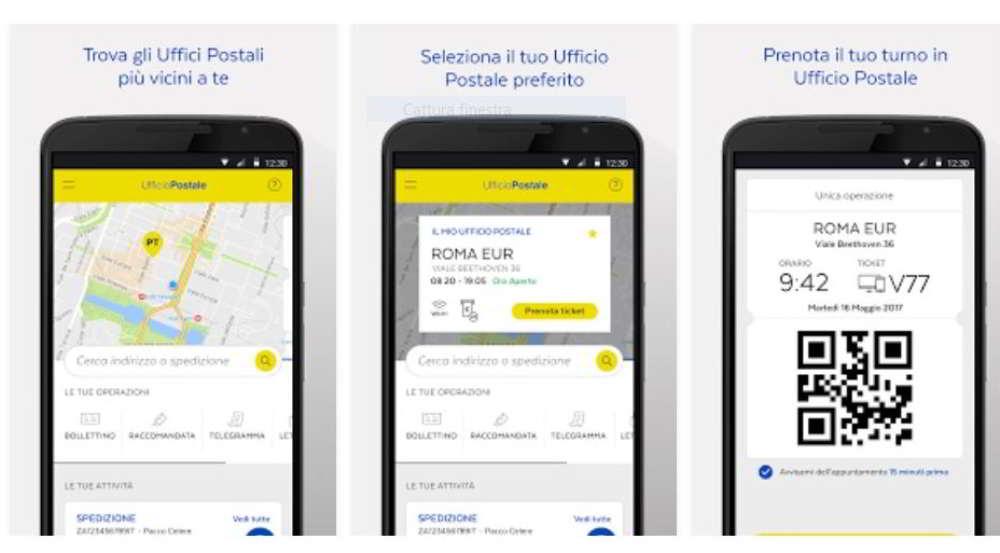 L'app Ufficio Postale