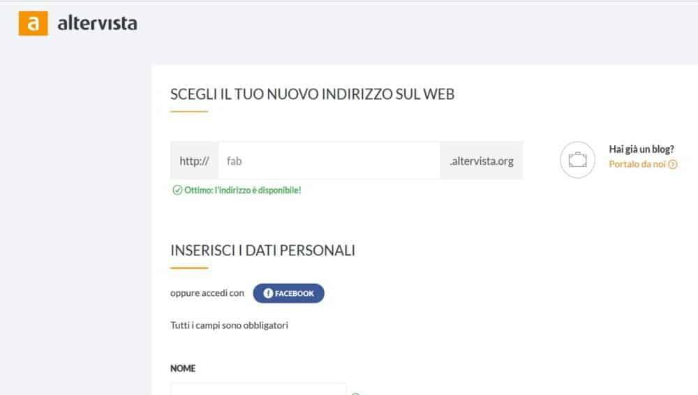 Come creare un sito web con Altervista