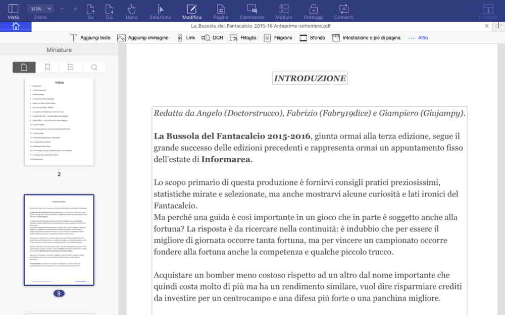 Modifica PDF