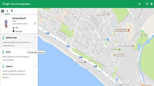 Trova il mio dispositivo Google