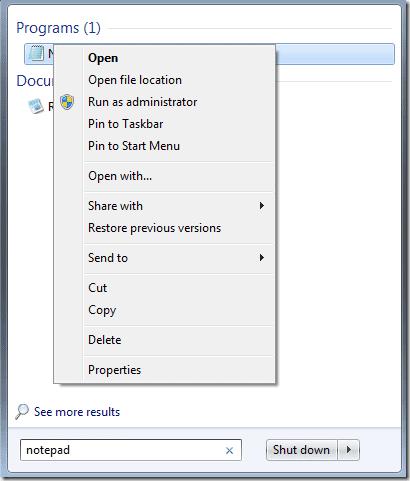 apri notepad - Come bloccare l'accesso ai siti dal PC