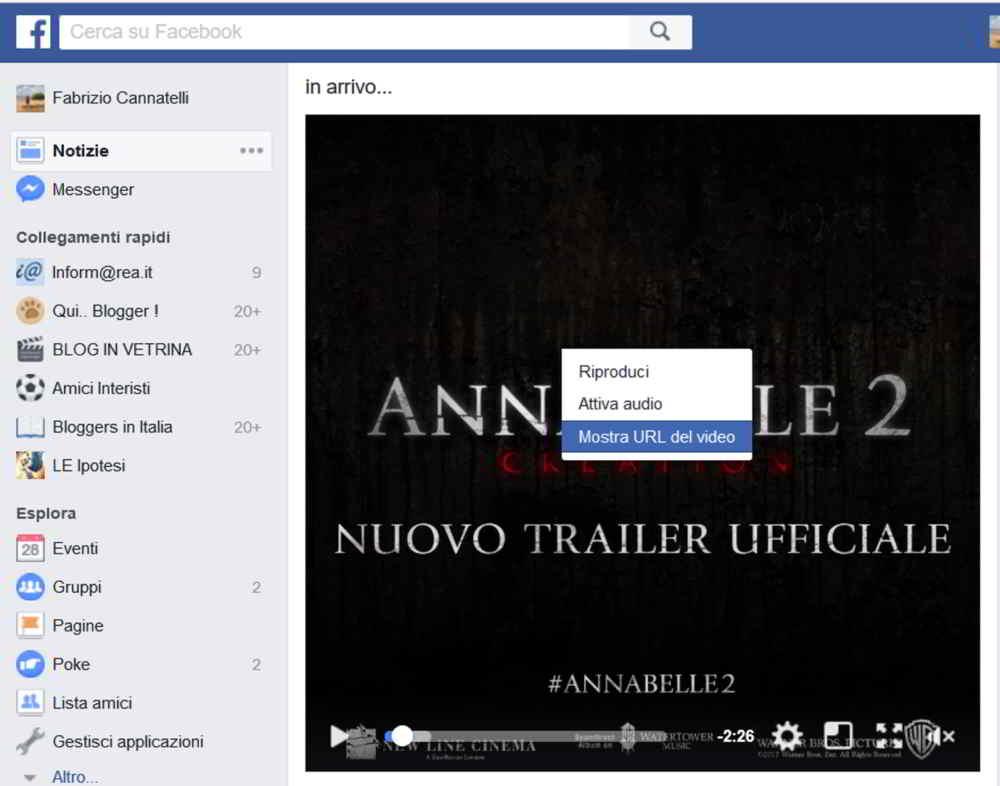 Come scaricare video facebook