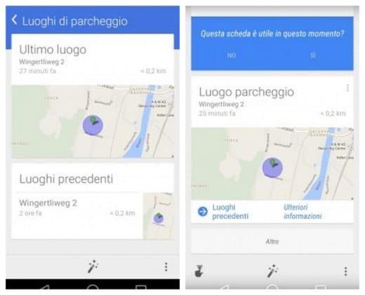 Come ritrovare auto parcheggiata con Google Now
