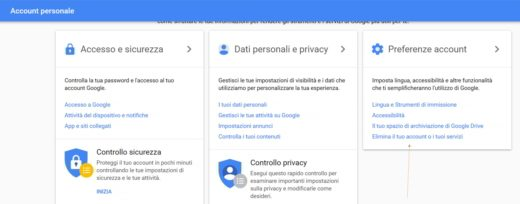 Come eliminare account Gmail