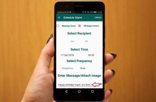 come pianificare l'invio di messaggi con WhatsApp