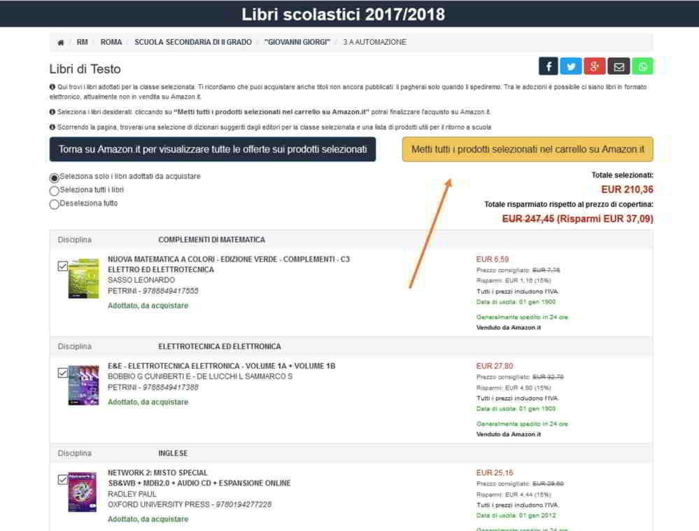 Come comprare libri scolastici online