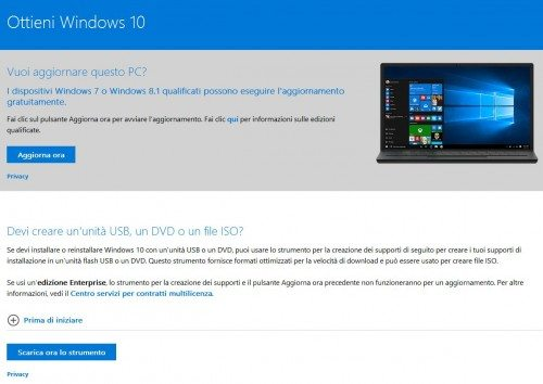 cd installazione windows 10