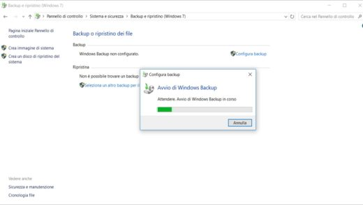 Come fare un backup di Windows 10