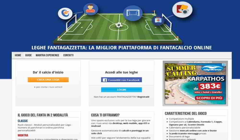 Migliori siti e app per giocare al Fantacalcio 2017/2018