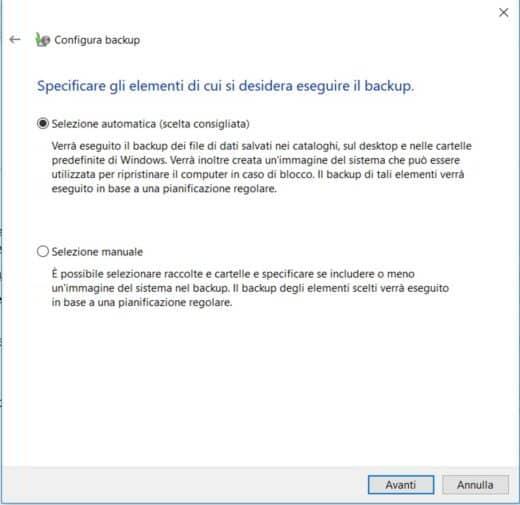 Come fare un backup di Windows 10