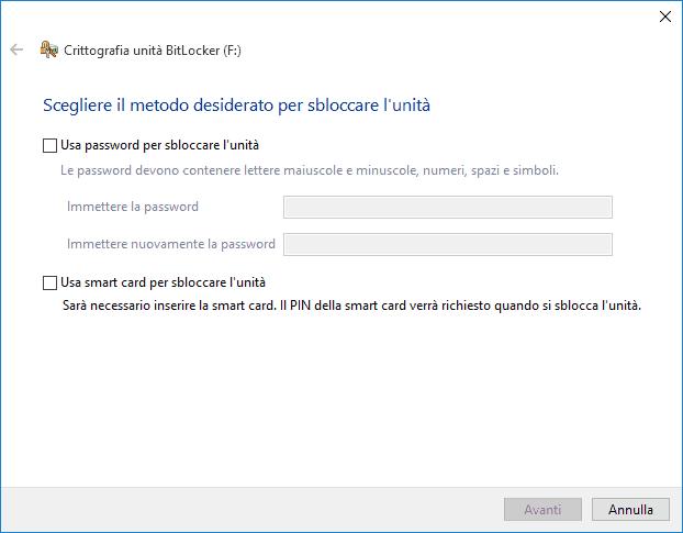 Come crittografare Windows 10
