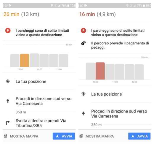 Come trovare parcheggio con Google Maps