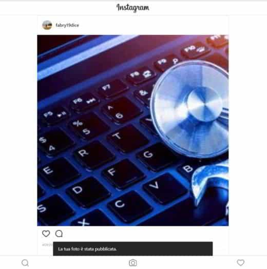 Come postare foto Instagram da computer