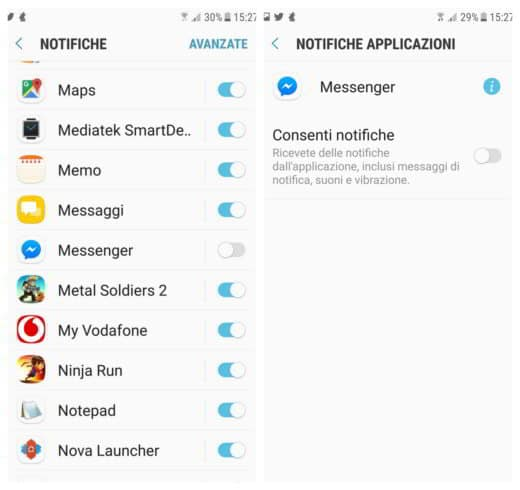 Come eliminare account Messenger