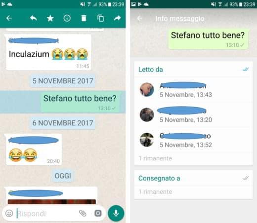 Come vedere chi legge messaggio gruppo WhatsApp