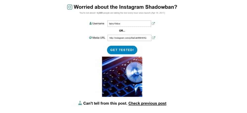 come verificare se account Instagram è stato bannato dallo Shadow Ban