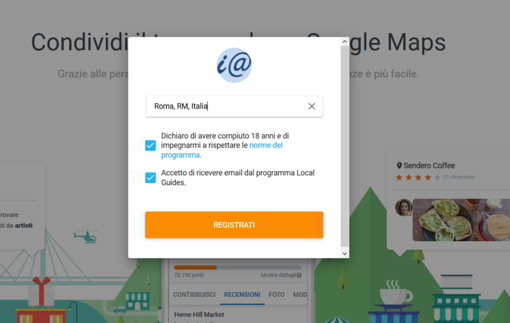 Come diventare local guide di Google Maps