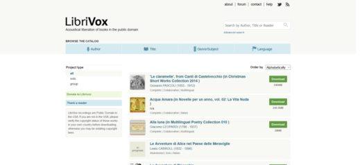 audiolibri gratis italiano