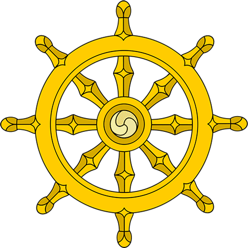 Simboli answer: RUOTA DEL DHARMA
