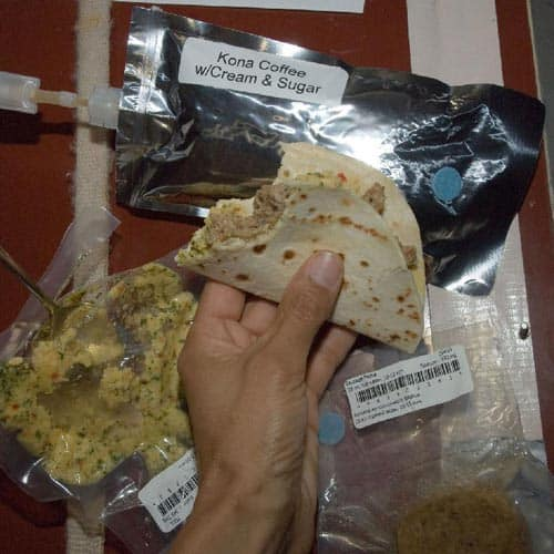 Spazio answer: SPACE FOOD