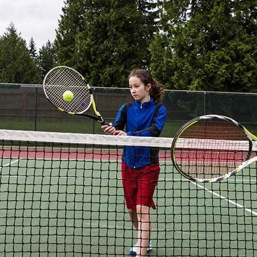 Tennis answer: VOLEE DI DIRITTO