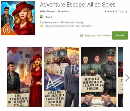 le soluzioni di Adventure Escape: Allied Spies
