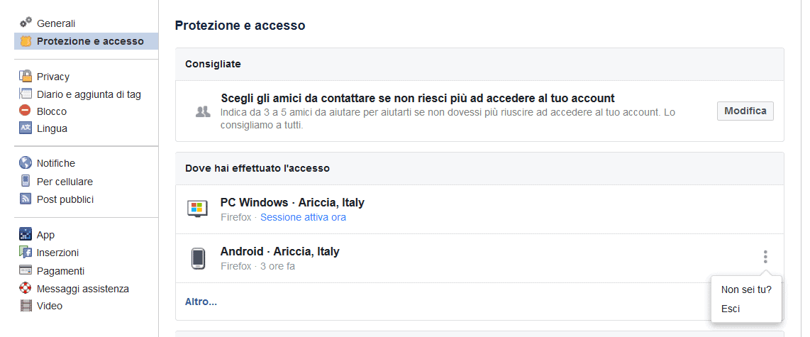 Come scoprire chi ha hackerato un account Facebook