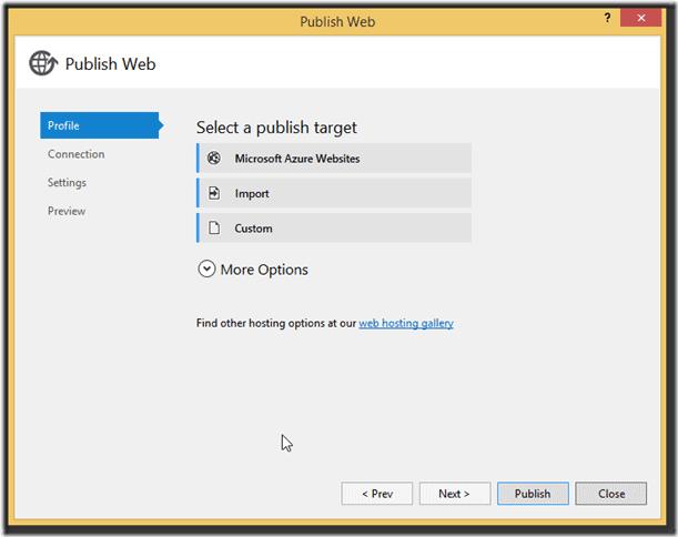 Deploy di un Website su Windows Azure